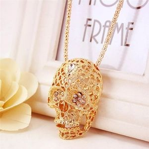 Jewelry - ✨HP✨Gold Plated Sugar Skull Pendants